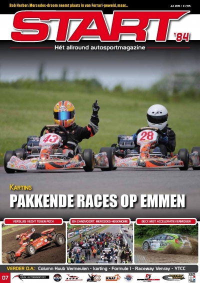 Flandria Kart drivers hitting the Start '84 magazine front page